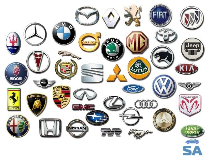 марки автомобилей со значками и названиями китайские корейские